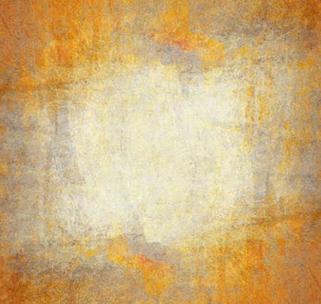 wall decor: Grunge and rusty yellow wall background Stock Photo