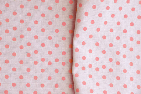 polka dot fabric: Pink polka dot fabric for background