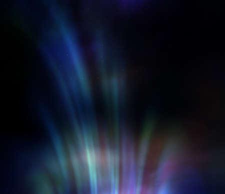 aurora: Aurora borealis in night sky.