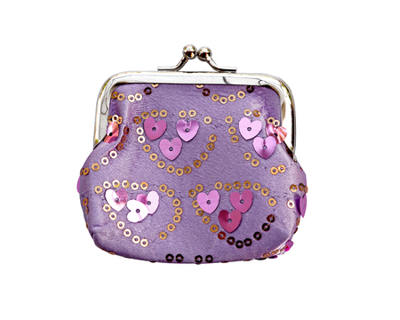 coin purse: Coin Purse with clasp isolate (clipping path) Stock Photo