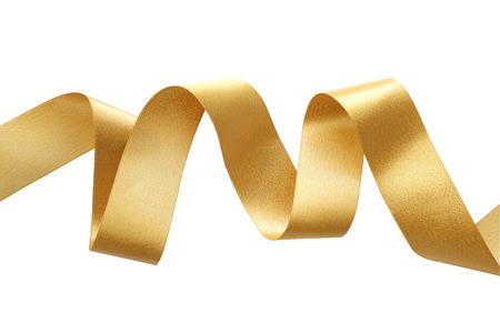 Oro confine nastro isolato su bianco Archivio Fotografico - 49920605
