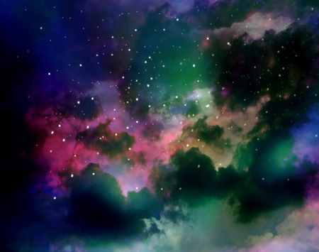 astroimage: Nebula, colorful abstract gas and fog