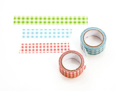 Pink washi tape roll.