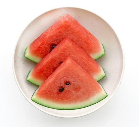 fruity salad: Fresh watermelon in bowl Stock Photo