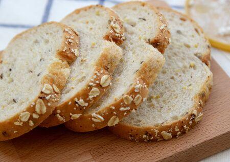 whole wheat: Whole wheat bread cut on slices