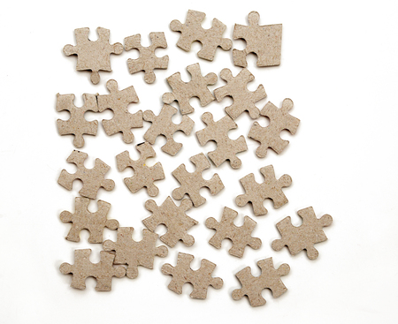 jigsaw pieces: jigsaw puzzle pieces Stock Photo