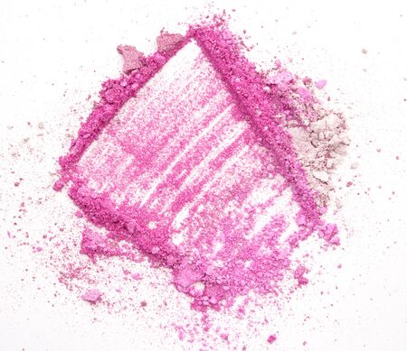 crushed: crushed eyeshadow on white background Stock Photo