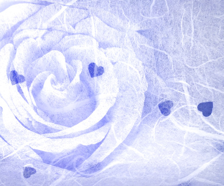 paper texture with rose for background Standard-Bild
