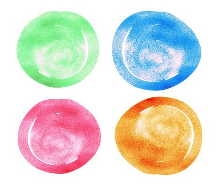 circles: Watercolor hand painted circles set