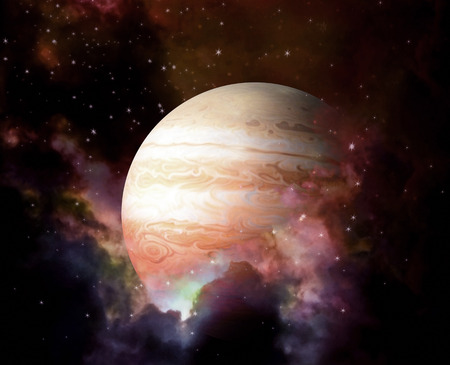 nasa: Planet and Nebula - Elements of this image furnished by NASA Stock Photo