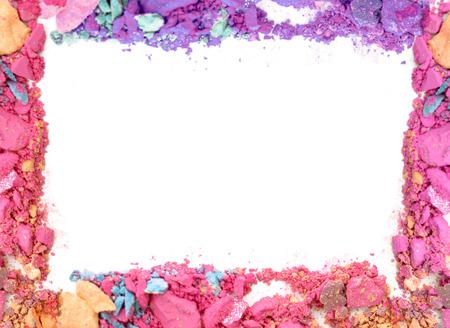 Make-up color frame on white background Standard-Bild