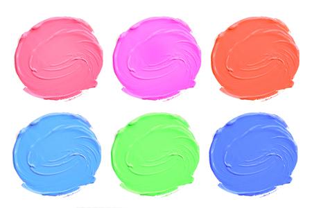 daub: Set of colorful acrylic blots isolate on white