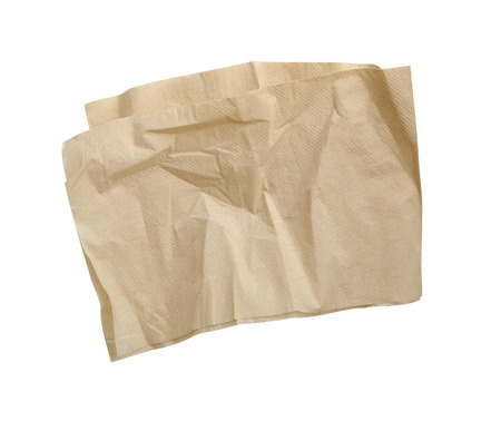 servilletas: brown napkins isolate on white (clipping path)