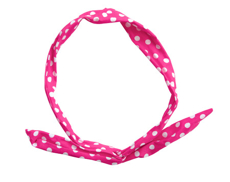 Pink hair band isolated on white background. This has clipping path.