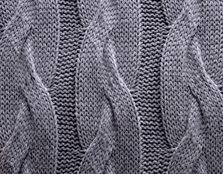 cable stitch: Handmade knitting wool texture background Stock Photo