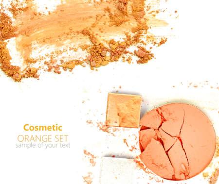 sample: eye shadow crushed sample Stock Photo