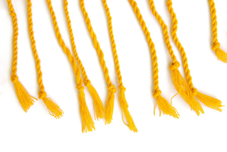 multicore: yellow cord on a white background