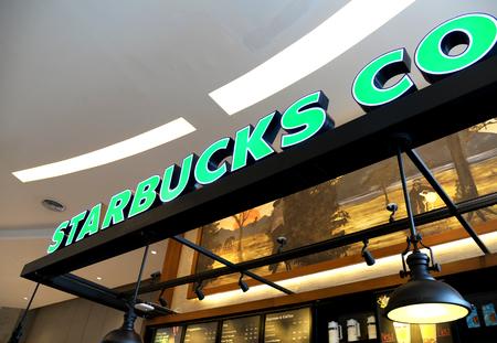 starbucks coffee: Bangkok, Thailand - July 18 2016: Starbucks coffee store.