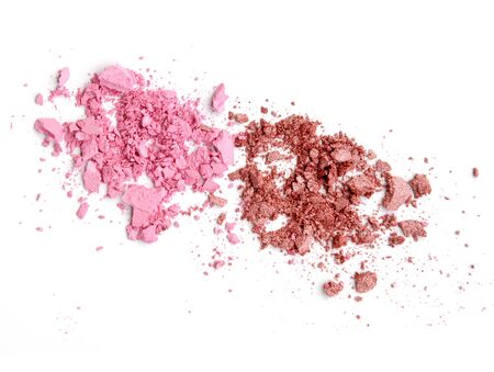 eyemakeup: crushed eyeshadow isolated on white background