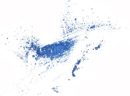 blue eyeshadow swatch isolated over white background