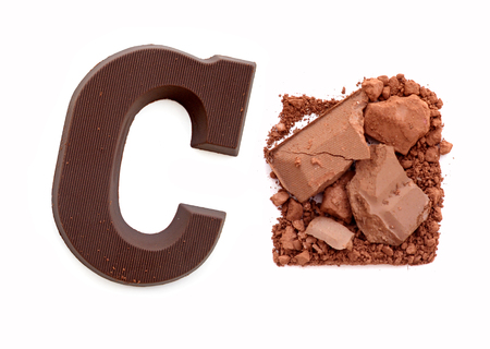 sinterklaas: Chocolate letter C. Sweet candy Stock Photo