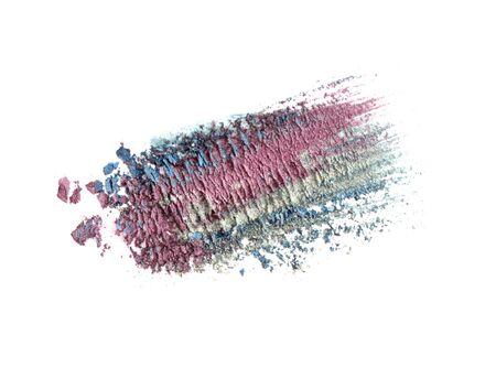 eyeshadow: Crushed eyeshadow isolated on white