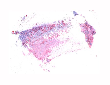 crushed eyeshadow on white background stock photo picture and