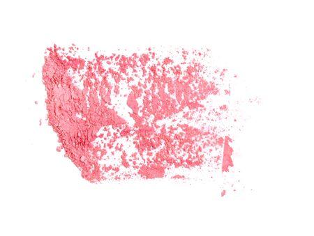 Face powder on white background