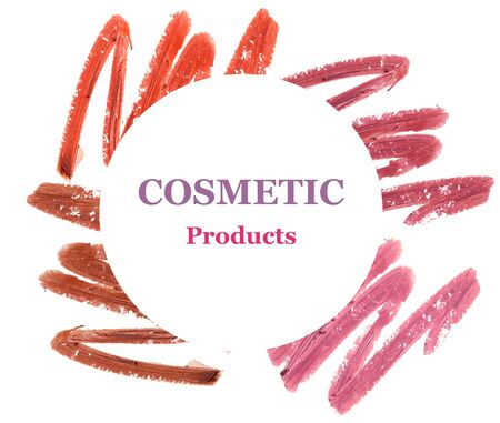 Lipstick smeared with space for text (Marketing promotion product) Stock Photo