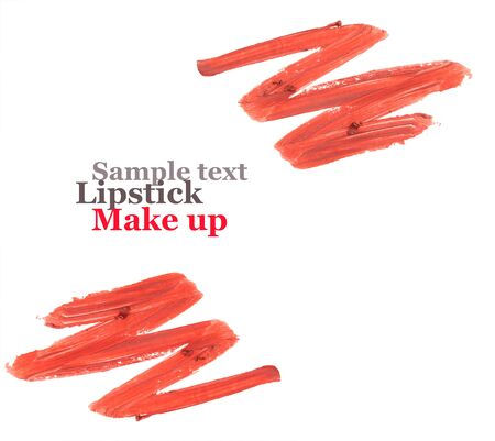 Color lipstick smeared for banner design with space for text