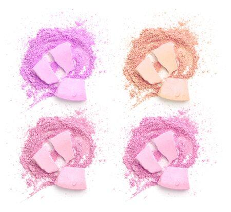 Colors shade pink tone powder make up Banco de Imagens