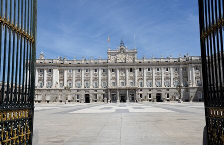 european: Royal Palace in Madrid in a beautiful summer day, Spain