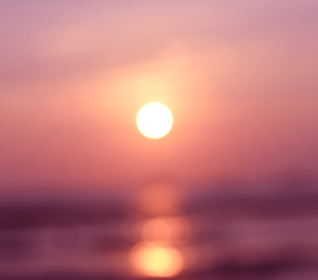 Blurred abstract background last light evening with sunset golden rush hour, pastel tone. Stock Photo