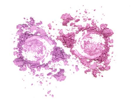 crushing: Colors shade pink tone powder make up Stock Photo