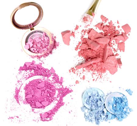 Crusher make up eyeshadow and powder set Stock Photo
