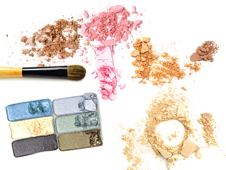 Make up palette color and facial cosmetic powder