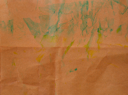 painted on crumbled paper texture background