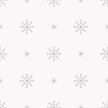 Snowflakes seamless pattern. Winter christmas snowfall background for wrapper scrapbooking paper christmas banner. Stock vector hand drawn illustration isolated on white background.