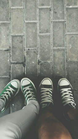 converse: Conversation between two pairs of converse