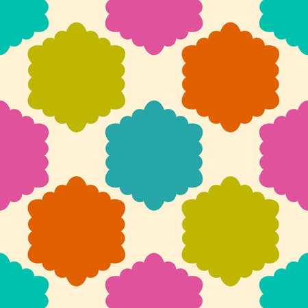 Colorful infinity abstract curly honeycomb geometrical background.