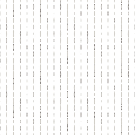 Seamless abstract background with vertical lines of ovals on white. Infinity stripped geometric pattern. Vector illustration.