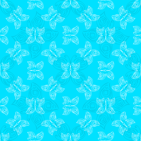 Butterfly seamless pattern background wallpaper vector illustration.