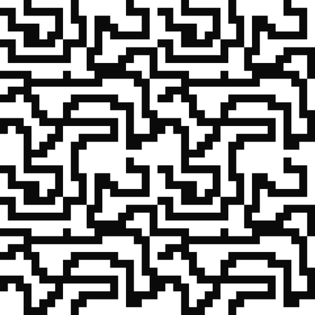 Abstract seamless pattern with lines on white. Stock Illustratie