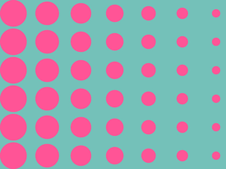 Bright halftone, round shape, dotted background. Vector illustration.