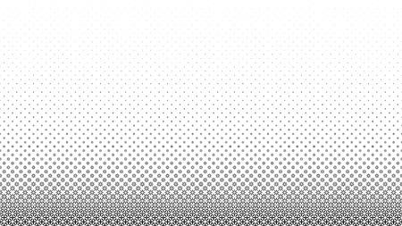 Marco de semitono negro abstracto aislado sobre fondo blanco. Conjunto de bordes punteados. Ilustración de vector.