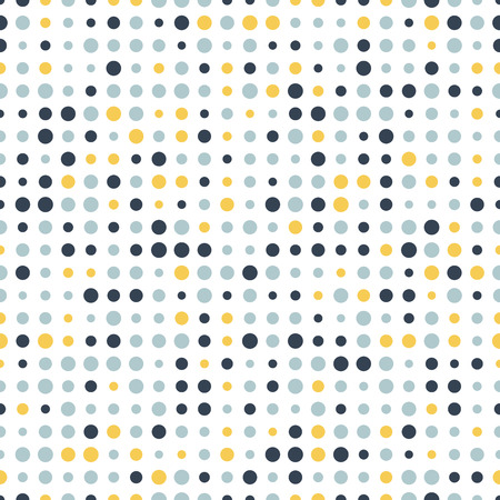 Colorful abstract spotted seamless pattern. Dot on white. Round shape, dotted background. Dots texture. Polka dot background. Vector illustration.
