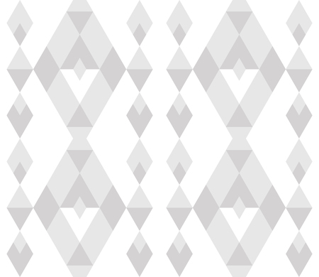 Linear seamless abstract background with rhombuses. Striped infinity geometric pattern. Vector illustration.
