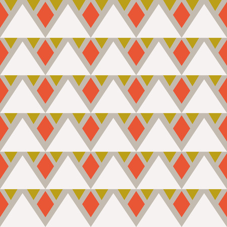Seamless abstract background with triangles and rhombuses. Infinity geometric pattern. Vector illustration. Illustration
