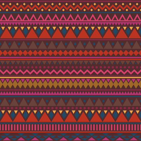 Colorful ethnic seamless pattern. Cute tribal background. Geometrical backdrop. Vector illustration. Illusztráció