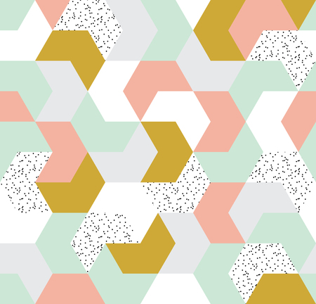 Cute colorful arrow seamless pattern. Endless background of geometric shapes. Vector illustration. Illustration